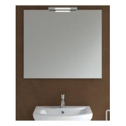 Andrea Chrome Mirror & Light 800mm x 700mm