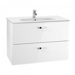 Roca Unik 80cm White Vanity Unit