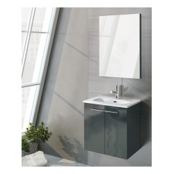 Paris 50cm Gloss Grey Vanity Pack