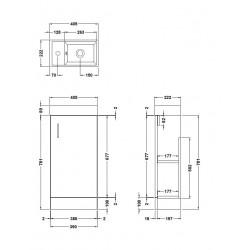Davies Minimalist Floor Standing Vanity Unit White