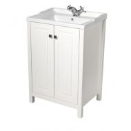 Kingston 60cm Chalk White Vanity Unit