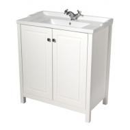 Kingston 80cm Chalk White Vanity Unit