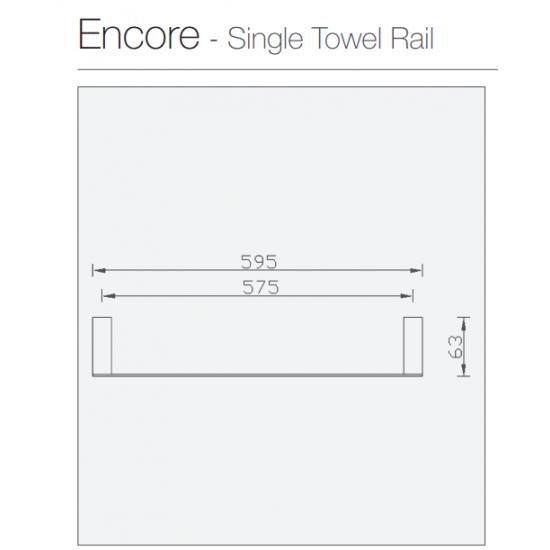 Encore Single Towel Rail