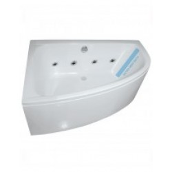 Maya 1500 Offset Corner 8 Jet Whirlpool Bath Left Handed with Bath Panel