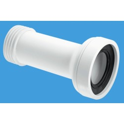 Straight Adjustable Pan Connector White