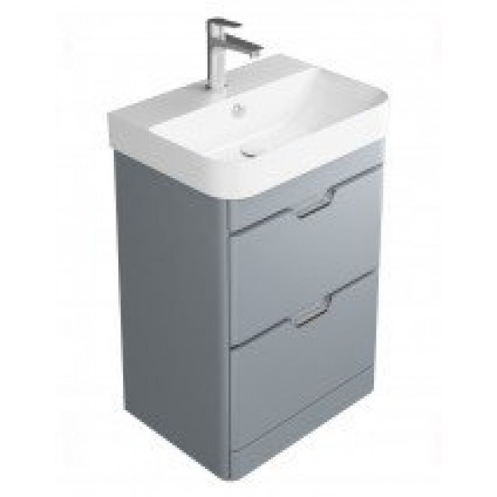 Sott' Aqua Light Grey Floor Standing 48 Vanity Unit - 2 Drawer