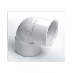 """White Waste Elbow 1 1/2"""" (40mm) 90 degree"""