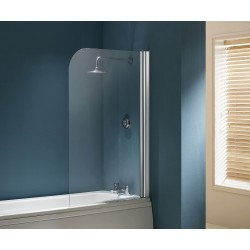 Flair Single Panel Bath Screen Chrome