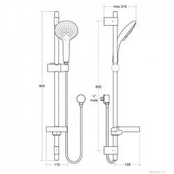 IdealRain 900mm Rail Kit B9426