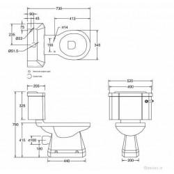 Edwardian Close Coupled Toilet