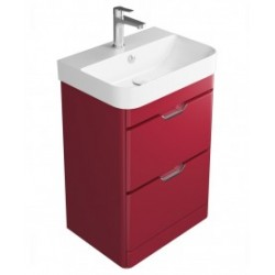 Sott Aqua Red 57 Floor Standing Vanity Unit - 2 Drawer
