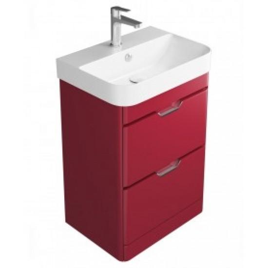 Sott Aqua Red 57 Floor Standing Vanity Unit - 2 Drawer