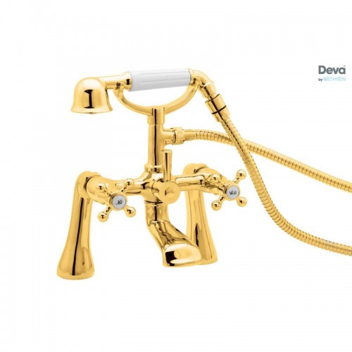 Tudor Gold Bath Shower Mixer