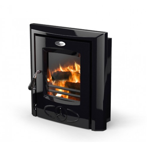 Cara Inset Enamel Black Heating