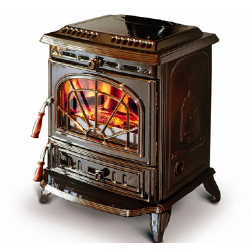Erin Enamel Majolica Brown HPB Heating