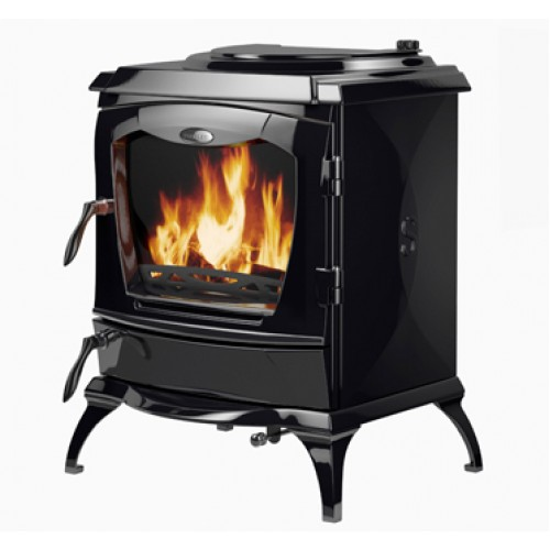 Lismore Enamel Black HPB Heating