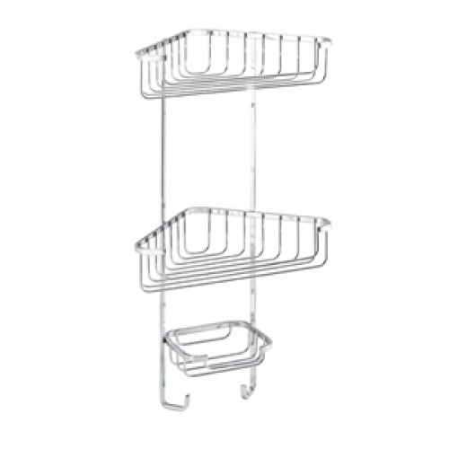 Croydex Large Three Tier Corner Basket General