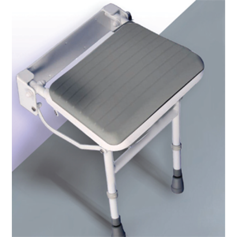 Easa Wall Mounted Shower Seat with Legs--Davies