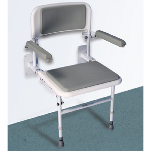 Easa Wall Mounted Shower Seat with Arms Accessories