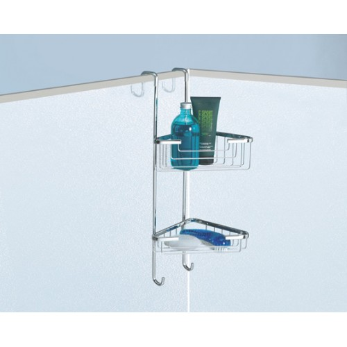 Complementi Two Tray Corner Shower Stack Accessories