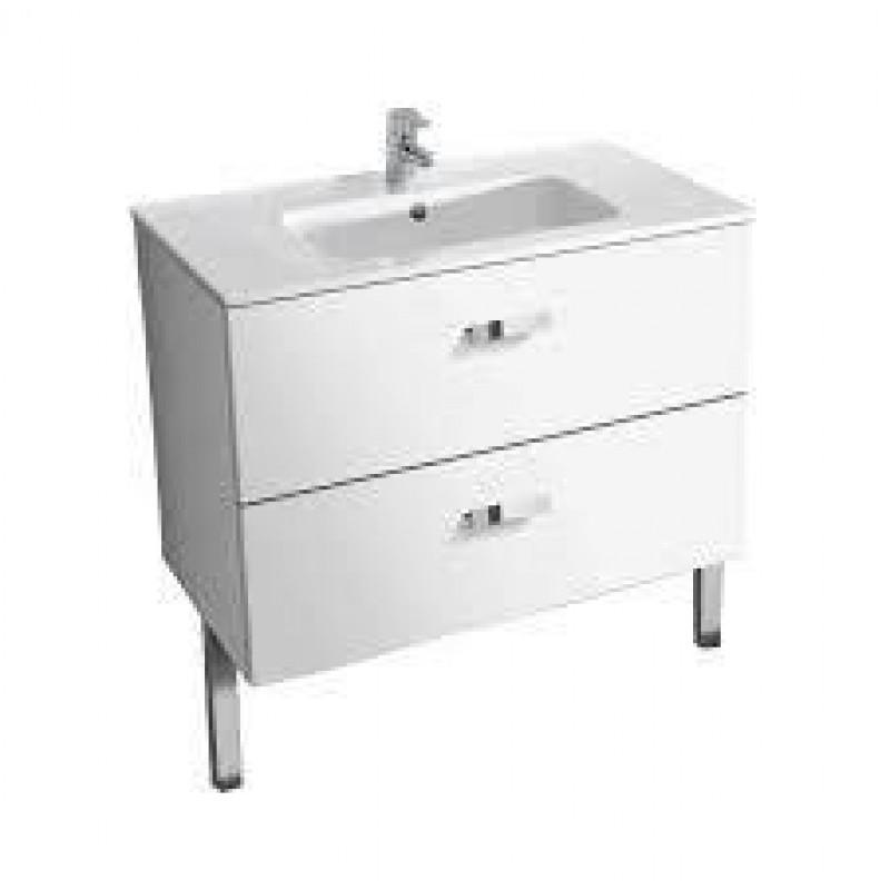 Roca unik 80cm white vanity unit for Kitchen set unik