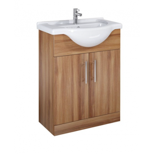 Belmont 65cm Walnut Vanity Unit