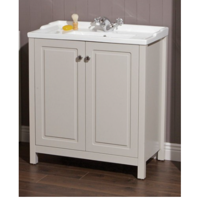 Kingston 80cm stone vanity unit victoria basin for Bathroom design kingston