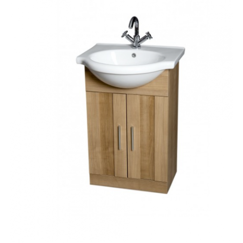 Oslo Oak 55cm Vanity Unit & Basin