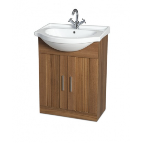 Oslo Walnut 65cm Vanity Unit & Basin
