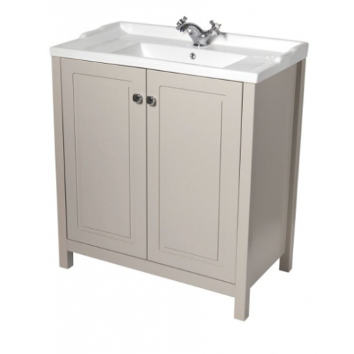 Kingston 80cm Stone Vanity Unit & Victoria Basin