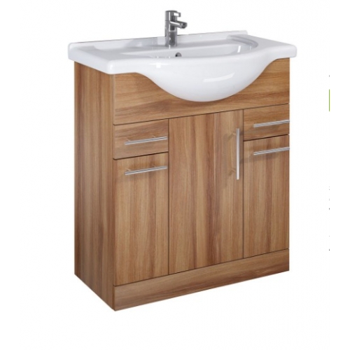 Belmont 75cm Walnut Vanity Unit