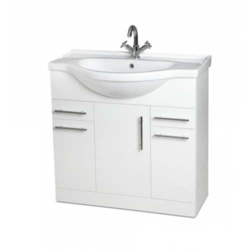 Davies 75cm White Vanity Unit Vanity Units