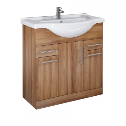 Belmont 85cm Walnut Vanity Unit