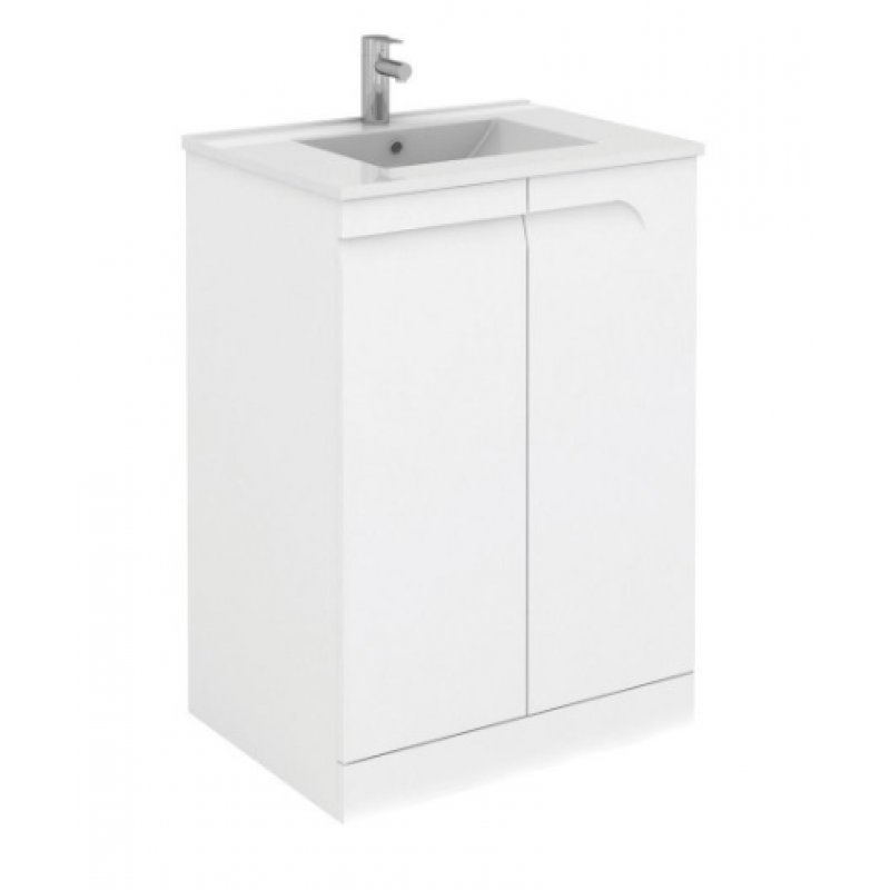Brava 60cm floor standing vanity unit and tap for Floor standing bathroom furniture