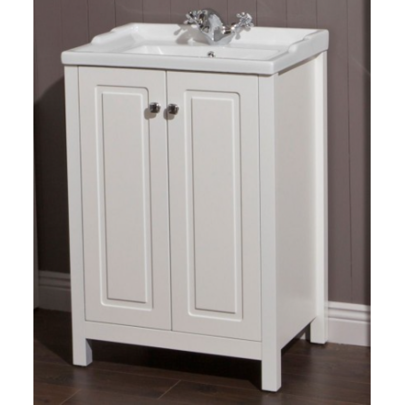 Kingston 80cm chalk white vanity unit victoria basin for Bathroom design kingston