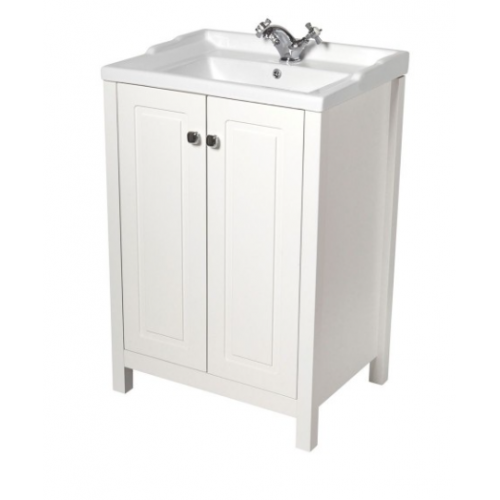 Kingston 60cm Chalk White Vanity Unit & Victoria Basin