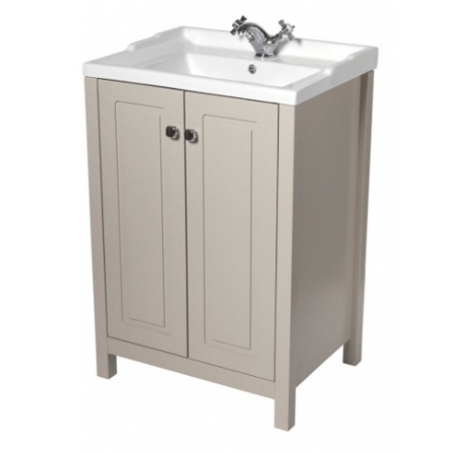 Kingston 60cm Stone Vanity Unit & Victoria Basin