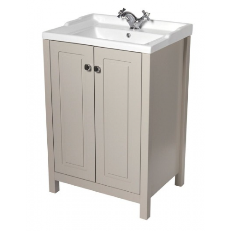 Kingston 60cm stone vanity unit victoria basin - Marble vanity units ...