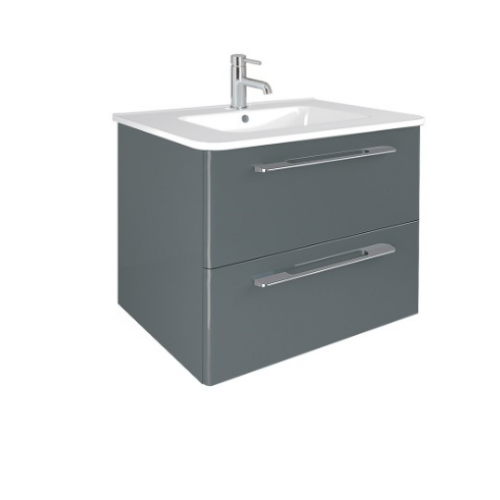 Mara Gloss Grey 80cm Vanity Unit 2 Drawer