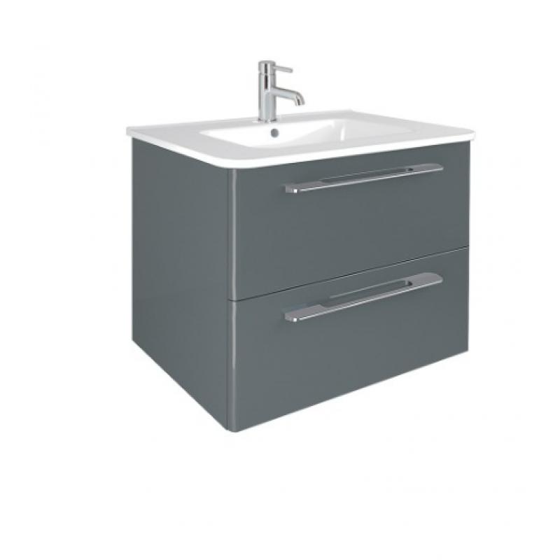Mara Gloss Grey 60cm Vanity Unit 2 Drawer