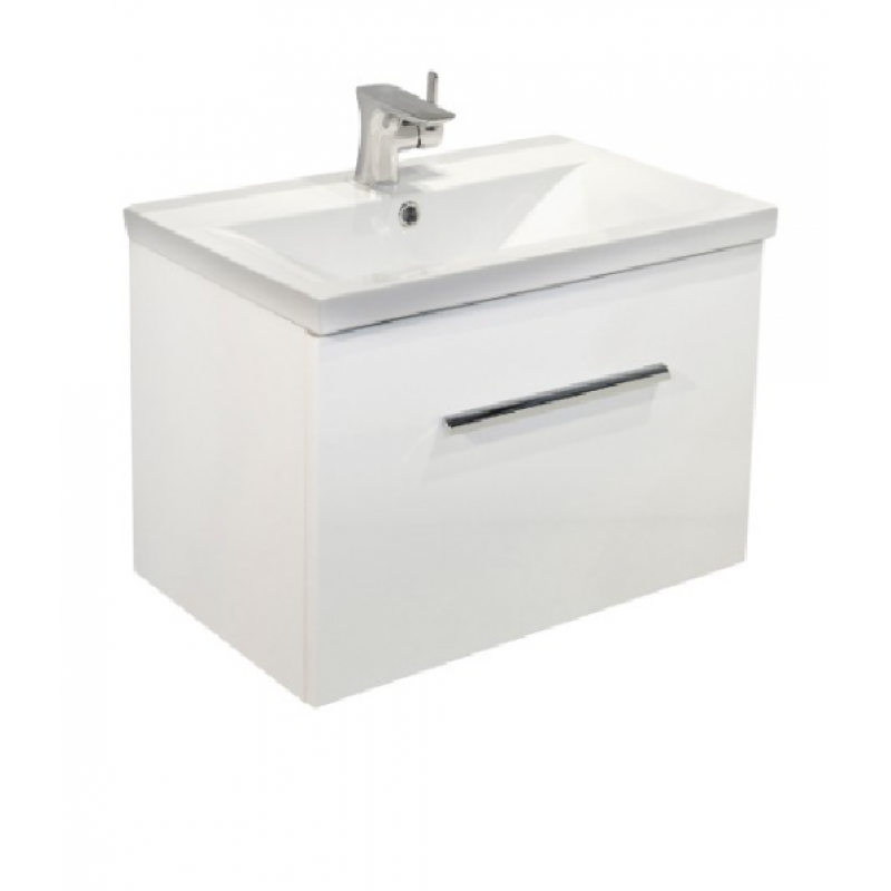 Nova White Slimline 50cm Wall hung Vanity Unit