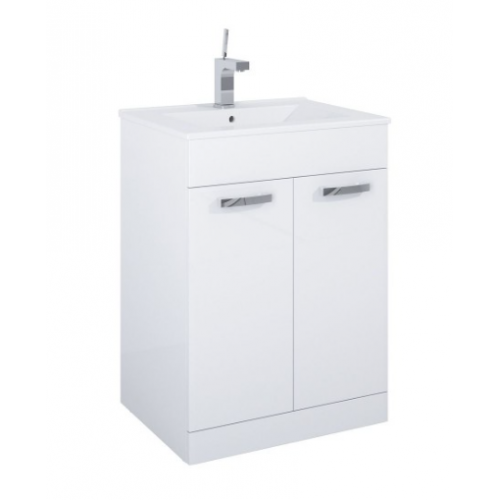 Turin White 2 Door Vanity Unit & Quartz Tap