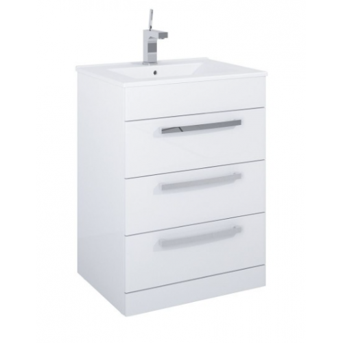 Turin 3 Drawer Vanity Unit & Quartz Tap