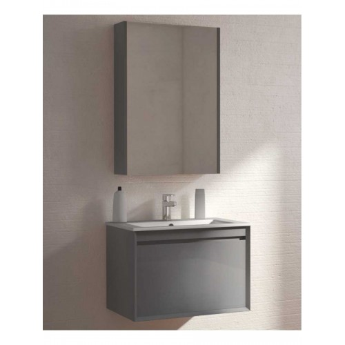 Vanity unit 55cm bathroom furniture wall hung anthracite