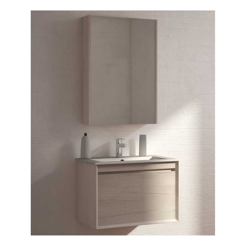 Reflex Light Wood 55cm Vanity Unit - Wall Hung