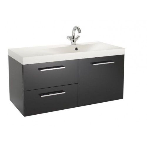 Kohler Idol 1000mm Vanity Unit RH Black Gloss