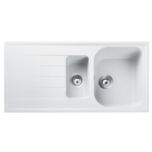 Amethyst Crystal White Bowl&1/2 Kitchen Sink