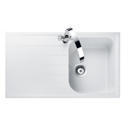 Amethyst Crystal White Kitchen Sink