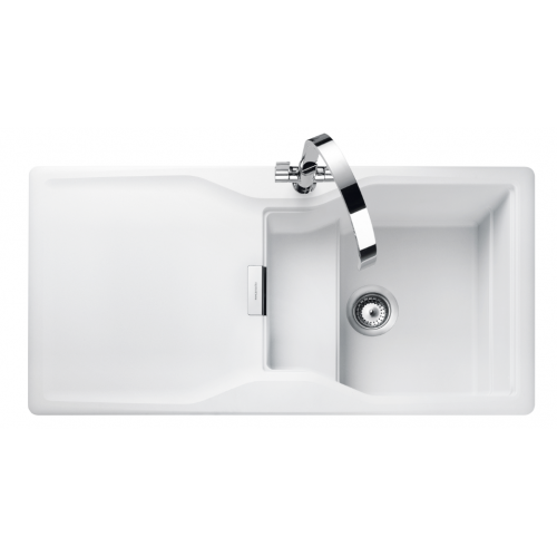white single bowl kitchen sink. Magma Crystal White Single Bowl Kitchen Sink C