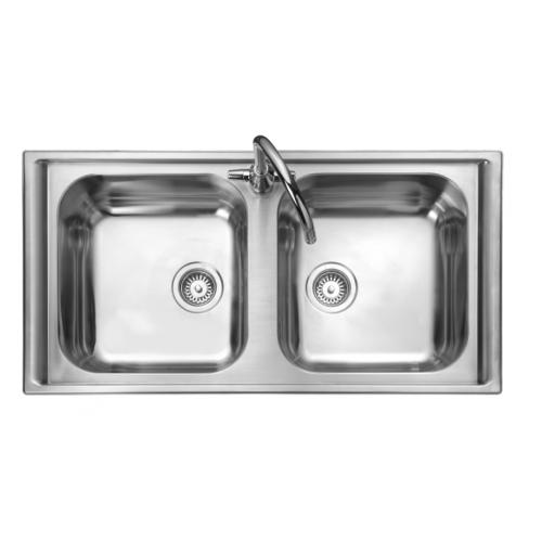Manhattan Double Bowl Kitchen Sink